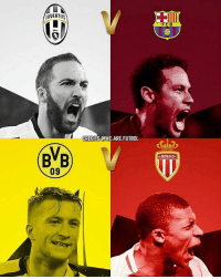 Who Will Win? Tag Friends 👥 📷 @We.Are.Futbol Follow ➡ @footy.earth @footxfootball: UVENTUS  BVB  09  CREDITS AWE ARE FUTBOL  FCB  ASMONACOFC Who Will Win? Tag Friends 👥 📷 @We.Are.Futbol Follow ➡ @footy.earth @footxfootball