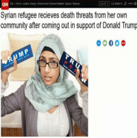 Sad - FOLLOW @super.weenie.hut.juniors FOR MORE CONTENT: Uwe TV US Editon  menu E  US Cime. Justoe Energy EnMomment Etrome Weather Space Scenoe  Syrian refugee recieves death threats from her own  community after coming out in support of Donald Trump Sad - FOLLOW @super.weenie.hut.juniors FOR MORE CONTENT