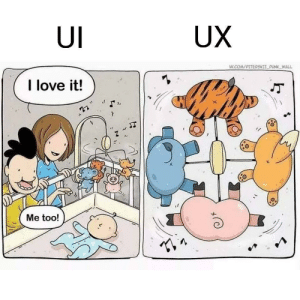 What we like is what we ship: UX  UI  VK.COMPITERSKII PLNK WALL  I love it!  Me too! What we like is what we ship
