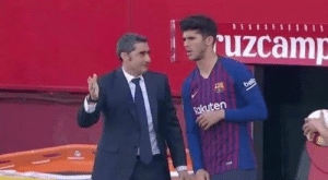 """Soccer, Messi, and You: uzcamp  Rkuten Valverde: """"Do you know what you have to do?""""  Alena: """"No""""  Valverde: """"Me neither, tell Messi I said hi."""" https://t.co/Njv6fa9S4h"""