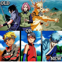Anime, Facts, and Memes: @uzvmakiboruto  O  OLD  999  OR  NEW Which do you prefer? | Follow @animee for Anime Facts 🔥 . . Credit @uzvmakiboruto