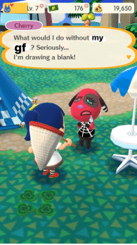 Tumblr, Thank You, and Animal: v. 717619,650  Cherry  What would I do without my  gf  ? Seriously...  I'm drawing a blank! memesformygf: i've been editing screenshots of animal crossing while i play to send to my gf   thank you for your submission!