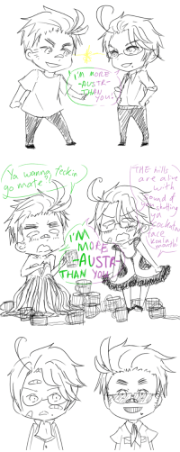 katnel88:  eunnui:  eunnui:  for romano-is-crying  if you haven't seen this perfect fun hetalia fact yet, this little scribbly thing would seem so damn weird omg austria's wearing that dress from austria's 2012 eurovision thing  AUSTR-IEST : V A  THA  you   eckin  THE hills  o mate  are alve  ace  Loala  mo  HAN YO katnel88:  eunnui:  eunnui:  for romano-is-crying  if you haven't seen this perfect fun hetalia fact yet, this little scribbly thing would seem so damn weird omg austria's wearing that dress from austria's 2012 eurovision thing  AUSTR-IEST