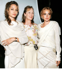 Angelina Jolie, Meryl Streep and Lindsay Lohan | The Yele Haiti Haitian Relief Benefit (2005): /V Angelina Jolie, Meryl Streep and Lindsay Lohan | The Yele Haiti Haitian Relief Benefit (2005)