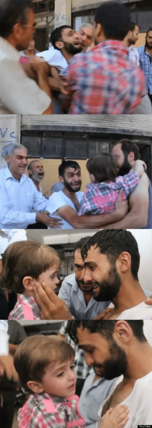 Alive, Tumblr, and youtube.com: V C   YouTube itshobohere:  Amazing moment when father finds out that his daughter is alive after bombing by Assad army in Syria.May Allah have mercy on the people on Syria. Ameen.
