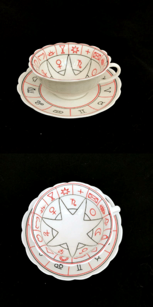 Tumblr, Blog, and Etsy: V   Y  IT figdays:    Vintage Fortune Telling Cup and Saucer //  TwoTimeVintage
