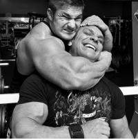 Here a flashbackFriday photo with me and big bro @richgaspari a typical mess around during a shoot we done together for @flex_magazine. - I had some the BEST times with Rich and @gaspari crew I was blessed to learn so much about business, bodybuilding and the drive that goes into growing a company. I was the athlete, yet I was there on meetings, distribution deals, manufacturing ideas and generally a kid that was asked my opinion as I was with him daily on the road. I traveled the World with Rich and also represented him when he wasn't there, I wasn't signed to a glorified contract like some, I seen it as a apprenticeship and earned my way to that point year by year, through work and sweat. - Social media was irrelevant or so new and untapped that the only way to brand yourself was get on a plane and fly to different states or country's, shake hands, and make new fans that might not of heard of you and grow your preexisting fan base. These times were a business 101 on getting up and hustling. Posting a photo on socials ain't hustling, you don't gain social skills from that, to which when fans meet these guys- girls at expos they look or act nothing like the motivational posts they push. - The old school days might have been taxing, spending weeks on the road, hotels, flights all over but I'm blessed to have earned my stripes under @richgaspari no one can say a bad word to me about him, and the guy is still at it. Respect big brotha! OldSchool FBF BusinessMan apprenticeship BigBro RichGaspari FlexLewis: V2 Here a flashbackFriday photo with me and big bro @richgaspari a typical mess around during a shoot we done together for @flex_magazine. - I had some the BEST times with Rich and @gaspari crew I was blessed to learn so much about business, bodybuilding and the drive that goes into growing a company. I was the athlete, yet I was there on meetings, distribution deals, manufacturing ideas and generally a kid that was asked my opinion as I was with him daily on the road. I traveled the World with Rich and also represented him when he wasn't there, I wasn't signed to a glorified contract like some, I seen it as a apprenticeship and earned my way to that point year by year, through work and sweat. - Social media was irrelevant or so new and untapped that the only way to brand yourself was get on a plane and fly to different states or country's, shake hands, and make new fans that might not of heard of you and grow your preexisting fan base. These times were a business 101 on getting up and hustling. Posting a photo on socials ain't hustling, you don't gain social skills from that, to which when fans meet these guys- girls at expos they look or act nothing like the motivational posts they push. - The old school days might have been taxing, spending weeks on the road, hotels, flights all over but I'm blessed to have earned my stripes under @richgaspari no one can say a bad word to me about him, and the guy is still at it. Respect big brotha! OldSchool FBF BusinessMan apprenticeship BigBro RichGaspari FlexLewis