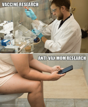 Just let me be ignorant: VACCINE RESEARCH  ANTI-VAX MOM RESEARCH  SADANDUSELESS.COM Just let me be ignorant