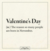 November babies raise your hands! - Follow @hipdict: Valentine's Dav  (n.) The reason so many people  are born in November  aflipDict November babies raise your hands! - Follow @hipdict