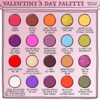 Hmmm decisions, decisions. #StoryOfMyLife: VALENTINE'S DAY PALETTE  ADAM ELLIS  BUZZFEED  CANDY  DEVIL'S  LAST MINUTE  CHAMPAGNE  GIVING UP ON  RESERVATION  FOR ONE  LOVE & DECIDING  HEARTS  FOOD  TO RAISE CHICKENS  CAKE  AT CHILI'S  I SHAVED  FEELING BOLD  IMMEDIATELY JUST A BIG  CLOSED FOR  AND GETTING  REGRETTING  FISTFUL OF  BUSINESS!  MY LEGS  FOR THIS?  VIAGRA  BANGS  YOUR BANGS  OBNOXIOUSLY  GLITTER  LOVE POTION ASSORTED  1-800  No. 69  CHOCOLATES  ON YA  AWAY LARGE TEDDY  BEAR  DICK  (JK IT'S ALL COCONUT)  l MEAN, THE DIAMOND 50 SHADES  CASTING SPELLS  AN ACTUAL  GO HOME,  BUSINESS IS A SCAM  OF GAY  ON YOUR EX'S  BLOODY  I WANNA POOP  BUT ENGAGEMENT  NEW FIANCE  HUMAN HEART  IN PEACE  RING IS SO CUTE, BECKY Hmmm decisions, decisions. #StoryOfMyLife