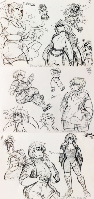 jasker:  throws these doodles of my ocs at yall and sprints off: VALENTIWE  t  CUne  CUe!  JASKERARTe   TABS  JASKERARTener   Matcho  JASKERARTE wiHcK jasker:  throws these doodles of my ocs at yall and sprints off