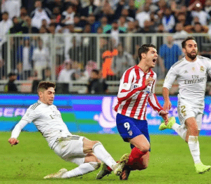 """Valverde on that famous tactical foul:   """"I was running after Morata as fast as I could. At one point, I heard a voice in the distance saying """"KILL HIM""""  """"It was Sergio Ramos"""" No surprise there 😂😂🤣 https://t.co/3E8deJdm7r: Valverde on that famous tactical foul:   """"I was running after Morata as fast as I could. At one point, I heard a voice in the distance saying """"KILL HIM""""  """"It was Sergio Ramos"""" No surprise there 😂😂🤣 https://t.co/3E8deJdm7r"""