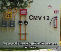 Memes, Microsoft, and Generalization: VALVULA  GENERAL  CMV 12  The paper clip from Microsoft has fallen on some  hard times.