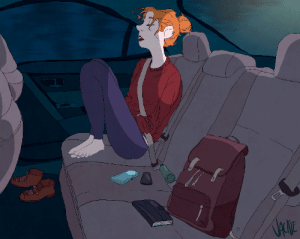 wowcorn:  Car Ride 1/5 pieces for school, i hope this turned out okay cause i nver wanna look at it again: VANE wowcorn:  Car Ride 1/5 pieces for school, i hope this turned out okay cause i nver wanna look at it again