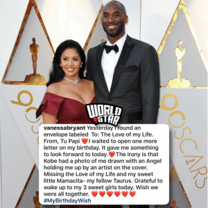 #VanessaBryant shared one last letter from #KobeBryant to open on her birthday.. #HappyBirthday Vanessa!  Our thoughts and prayers continue to be with her and her family! 🙏💛💜 #RIPKobeBryant #RIPGiGiBryant @vanessabryant https://t.co/aA3oeYn8gT: #VanessaBryant shared one last letter from #KobeBryant to open on her birthday.. #HappyBirthday Vanessa!  Our thoughts and prayers continue to be with her and her family! 🙏💛💜 #RIPKobeBryant #RIPGiGiBryant @vanessabryant https://t.co/aA3oeYn8gT