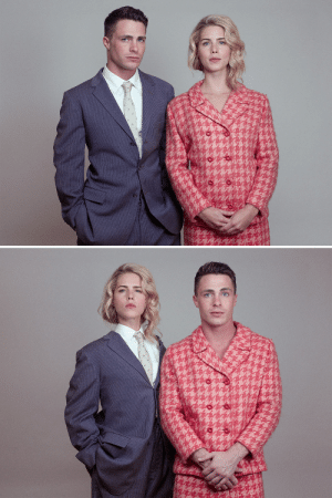 vanityfair:  Exclusive: Colton Haynes Dons Drag with Emily Bett Rickards for Tyler Shields Photo Shoot You've never seen Team Arrow like this before. : vanityfair:  Exclusive: Colton Haynes Dons Drag with Emily Bett Rickards for Tyler Shields Photo Shoot You've never seen Team Arrow like this before.