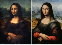 """vastderp:  lalaland1212:  theatre-whovian:  vastderp:  Meet the Mona Lisa of the Prado, the earliest known copy of Da Vinci's best portrait. Similarity in the undersketch of the painting indicates that this was very likely painted concurrently with the original Mona Lisa, by a student of Da Vinci. There is much controversy in the art world over the question of whether or not to clean the fragile Mona Lisa, but her sister has been restored and some fairly odd later alterations removed to show the original vibrant colors and lighting. Some details, such as the sheerness of her shawl and the pattern on the neckline of her dress, have become utterly obscured in the original, but in the restored copy they're perfectly clear. It blows my mind a little bit to look at these two sisters side-by-side and imagine how much vivid detail could be hiding in the Mona Lisaunder 500 years of rotten varnish.  THE COPY HAS EYEBROWS  Your response to a beautiful piece of artwork done by Leonardo Da Vinci himself is """"SHES GOT EYEBROWS"""". Alright. All intelligent life has been lost.  Yo Snooty McSnotwhine, the Mona Lisa's vanished eyebrows have been the subject of debate and analysis in the art expert community for hundreds of years, long before your parents squirted water at each other from across the clown car and then honked their bicycle horns to indicate they really wanted to make a smug, insufferable little clown baby together. : vastderp:  lalaland1212:  theatre-whovian:  vastderp:  Meet the Mona Lisa of the Prado, the earliest known copy of Da Vinci's best portrait. Similarity in the undersketch of the painting indicates that this was very likely painted concurrently with the original Mona Lisa, by a student of Da Vinci. There is much controversy in the art world over the question of whether or not to clean the fragile Mona Lisa, but her sister has been restored and some fairly odd later alterations removed to show the original vibrant colors and lighting. Some details, such as the"""