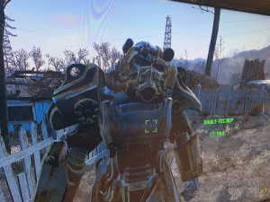 Was playing Fallout 4 and my first suit of power armor went missing. Then I found THIS in one of my settlements: VAULT-TEC REP  TALK Was playing Fallout 4 and my first suit of power armor went missing. Then I found THIS in one of my settlements