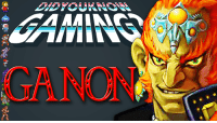 Check out the latest Did You Know Gaming?, The Legend of Zelda's Ganon! https://www.youtube.com/watch?v=LosGDVzR22o&list=PL26D7E5A7D29CCAB3: VE  A Check out the latest Did You Know Gaming?, The Legend of Zelda's Ganon! https://www.youtube.com/watch?v=LosGDVzR22o&list=PL26D7E5A7D29CCAB3