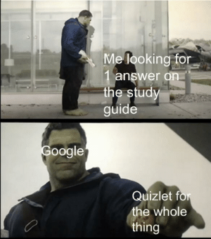 Quizlet, Hope, and Answer: ve looking for.  1 answer on  the study  guide  oogle  Quizlet for  the whole  thing I hope those people are doing well now