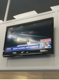 My local news station providing hard hitting journalism.: VE  WI LSON ROAD  THE ROADS ARE WE T  BREAKING NEWS  TRACKING HURRICANE MICHAEL  HURRICANE MICHAEL  I-85 AT SAM WILSON RD  RAIN CAUSING WET STREETS  5:42 72°  LIVE My local news station providing hard hitting journalism.