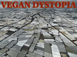 Plastic covering fields of mono crops. This is what vegans want: a world devoid of animals: VEGAN DYSTOPIA Plastic covering fields of mono crops. This is what vegans want: a world devoid of animals
