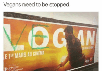 Dank Memes, Cinema, and Lei: Vegans need to be stopped  LE 1ER MARS AU CINEMA  lei ying lo  frompetition'