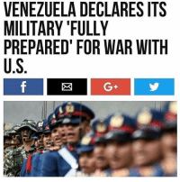"Philadelphia Eagles, Memes, and Stars: VENEZUELA DECLARES ITS  MILITARY ""FULLY  PREPARED FOR WAR WITH  U.S  G+ We're locked, cocked, and ready to rock with 50 Stars, 13 Bars, and a shitton of bald eagles. Come get some. Merica."