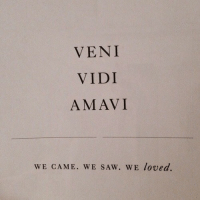 Saw, Came, and Veni: VENI  VIDI  AMAVI  WE CAME. WE SAw. WE loved