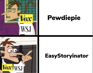 How, Vox, and They: VePewdiepie  WS.J  EasyStoryinator  Vox WSJ It's How They Operate