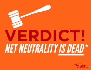 "Being Alone, Ass, and Click: VERDICT!  NET NEUTRALITY IS DEAD  For now mooncaps:  drtanner:  chakrabot:  slitheringink:  artofcarmen:  fyeahwhovians:  raygender:  themediafix:  Breaking news: The D.C. Appeals Court just killed Net Neutrality.This could be the end of the Internet as we know it. But it doesn't have to be. Tell the FCC to restore Net Neutrality: http://bit.ly/1iOOjoe  they want to make the internet like tv. with channels and paying to get to specific websites and things. net neutrality = not doing that  This impacts every internet user. Please signal boost the hell out of this and sign the petition if you are American  I do not reblog things like this very often, but this affects me both personally and my business as a freelance artist. In the economy here; cash is already strapped as it is. You bet your ass companies would suck the ever living life out of misc. art sites. I don't want it to ever come down to me choosing between groceries or purchasing a new tier package via comcast to be able to access tumblr or DeviantArt (let alone not guaranteeing I'll even be seen by my customer base since they may not want to pay out their asses either). It doesn't seem important to most, but I do 90% of my business online entirely. Please sign up, fight for this and share it with your followers/friends/family and urge them to give them hell as well.  Not writing related, but this is incredibly important. While we pay for service via ISPs, the internet has been a relatively free space where everyone, no matter their income level, is able to connect, access a wealth of information, and express themselves. The Internet has become a major part of our culture as human beings and the notion that ISPs might be able to limit what sites I can access unless I pay them more is utterly sickening. A lot of us are cash strapped as is, and I'd rather not be limited even more by someone else's greed. Net Neutrality is essential and I hope you guys will understand why it needs to remain. -Morgan P.S. Signal boost this if you're able.  "" limit what sites I can access unless I pay them more""  limit what sites I can access unless I pay them more  limit what sites I can access unless I pay them more  limit what sites I can access unless I pay them more  limit what sites I can access unless I pay them more DO YOU WANT THIS? NO?? CLICK THE LINK. REBLOG.  As I understand this ruling, it means that businesses now have to pay extra to ISPs to have access to their websites through that ISP provided at a reasonable speed. If you don't pay, users' access to your website will be slowed to a crawl - so independent people and small businesses can forget about getting onto that high speed access tier.  This means that the American internet is going to be firmly under the control of those who have the most money. You'll only get to see the content of those who can pay the ISPs to provide access at a reasonable speed. This means that you can expect to see skewed representation of just about everything, with those bigger businesses who can afford to pay ISPs a premium for access deciding what you can and cannot read, view and consume on the internet. This is not something that we have in the UK. Our ISPs compete with each other to provide higher speeds, better services and lower prices, but because there's a monopoly in the US of a few ISPs who provide services, they can afford to do this to you. You can't go anywhere else, after all. Everyone in the US needs to sign that petition, call their representatives, write angry letters and do whatever you can to tell your government that this ruling is Not Okay.  This may be the thing that finally makes me leave this shithole country."