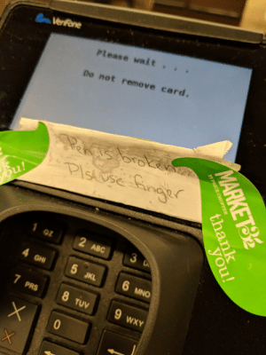 Started cry-laughing on my way out of the supermarket because of this (i.redd.it): Verfone  Please wait .  Do not remove card.  3  02  ABC  GHI  5 JKL  MNO  PRS  TUV  WXY Started cry-laughing on my way out of the supermarket because of this (i.redd.it)