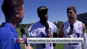 Memes, Verizon, and Best: verizon  erizon  2D GS  NFLN  NELN NFLN  Vikings holding final day of mandatory minicamp They could be the best WR tandem in the league.  What's in store for @stefondiggs and @athielen19 in 2019? (via @TomPelissero) https://t.co/tDgqYXhk9V