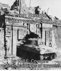 ww2 georgespatton sherman tank military history: Vern George  by Will E Coyotes  realistic paintings of tunnels! ww2 georgespatton sherman tank military history