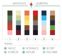 "Target, Tumblr, and Blog: veronica s  palettes  themes  a MAGIC  b HORROR d NATURE  c ROMANCE e SECRET  MACABRE <p><a href=""http://vjoycedesign.tumblr.com/post/175582199337/i-took-colors-and-themes-from-some-of-my-favorite"" class=""tumblr_blog"" target=""_blank"">vjoycedesign</a>:</p>  <blockquote><p>I took colors and themes from some of my favorite pieces and made a palette challenge! Please tag me if you use it. I want to see them if you do it!</p><p>Thanks!</p></blockquote>"