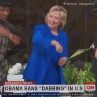 """I see why Bill cheated 😭😭😭: @versace tamagotchi  r BREAKING NEWS  IN US  BANS """"DABBING"""" LIVE  ER, CNN POLL FINDS ONLY DEMOCRATS HILLARY CLINTON & SEN, E  THE LEAD I see why Bill cheated 😭😭😭"""