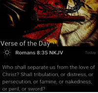 Verse of the Da O Romans 835 NKJV Today Who Shall Separate