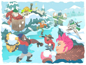 versiris:Overwatch snowball fight! So gracious for this commission by the OW team @ Blizzard , it was so much wintery fun! ☃: VERSIRIS versiris:Overwatch snowball fight! So gracious for this commission by the OW team @ Blizzard , it was so much wintery fun! ☃