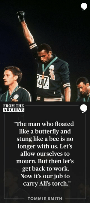"""""""Very few people in this world put action behind their words. Muhammad Ali did."""" —Tommie Smith   📝: https://t.co/r7dFgHwSrz https://t.co/FlJNLl8qyP: """"Very few people in this world put action behind their words. Muhammad Ali did."""" —Tommie Smith   📝: https://t.co/r7dFgHwSrz https://t.co/FlJNLl8qyP"""