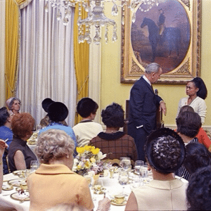 "veryfemmeandantifascist: bigmikewatt:  blacklabelpusssb:  standardreview:  magnacarterholygrail:  durgapolashi:  Eartha Kitt speaking truth to power at a 1968 luncheon at the White House hosted by Lady Bird Johnson which resulted in Kitt being blacklisted in the US for nearly a decade.  let it be known that on January 18th, 1968, Eartha Kitt stood in a room full of white women at The Women Doers Luncheon, GOT IN LADYBIRD JOHNSON'S FACE, and told her that the government was sending the best of the youth off to be shot and killed and, in not so many words, that THAT was the reason the youth were rebelling. She ALSO stopped President Johnson after he made a statement claiming that mothers should be responsible for stopping their kids from becoming criminals and asked about ""the parents who have to go to work, for instance, who can't spend time with their children as they should"". It was brushed off by LBJ who only mentioned the funding for day care centers put in place by the recently passed Social Security bill, and then more or less said that the women at that luncheon should figure it out for themselves. She was blacklisted, but she defended every word she said that day.    gifs via  SHERO   Respect Mother Sister  y'all better put some respect on her name : veryfemmeandantifascist: bigmikewatt:  blacklabelpusssb:  standardreview:  magnacarterholygrail:  durgapolashi:  Eartha Kitt speaking truth to power at a 1968 luncheon at the White House hosted by Lady Bird Johnson which resulted in Kitt being blacklisted in the US for nearly a decade.  let it be known that on January 18th, 1968, Eartha Kitt stood in a room full of white women at The Women Doers Luncheon, GOT IN LADYBIRD JOHNSON'S FACE, and told her that the government was sending the best of the youth off to be shot and killed and, in not so many words, that THAT was the reason the youth were rebelling. She ALSO stopped President Johnson after he made a statement claiming that mothers should be responsible for stopping their kids from becoming criminals and asked about ""the parents who have to go to work, for instance, who can't spend time with their children as they should"". It was brushed off by LBJ who only mentioned the funding for day care centers put in place by the recently passed Social Security bill, and then more or less said that the women at that luncheon should figure it out for themselves. She was blacklisted, but she defended every word she said that day.    gifs via  SHERO   Respect Mother Sister  y'all better put some respect on her name"