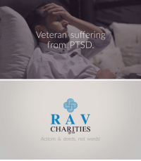 Football, Homeless, and Run: Veteran suffering  from PTSD   RA V  CHARITIES  R TM  Actions & deeds, not words! lifepro-tips:  Build Housing For Homeless Veterans Dear Friend, Many  of our veterans – who had our backs when it mattered most – are in  trouble. You see, many veterans suffer from PTSD from their time spent  in combat. As a result, they're left homeless in our streets. Let me paint you a picture. Roberto  is homeless veteran living on the streets of San Francisco, California,  and he's been diagnosed with PTSD. At first glance, you may think  Roberto's situation is a rare, isolated incident…However, you couldn't be further from the present day reality. As  you're reading this right now, there are over 40,000 homeless veterans  in the United States. Tragically, there are enough homeless veterans to  fill several football stadiums over again. You can run but you can't hide from the truth – these veterans desperately need our help. That's  why we've put together this campaign to build an affordable housing  centre for homeless veterans in the Arcata, California area. The housing  centre will provide housing and support that the VA cannot bring to the  table.  https://www.gofundme.com/xzdx5-homeless-veteran-housingrcid=r01-155009702209-f19b35d4513a4e35pc=ot_co_campmgmt_m