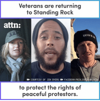 Solidarity is a beautiful thing! #nodapl: Veterans are returning  to Standing Rock  attn:  WATER  COURTESY OF JEN BYERS FACEBOOK/REDLIG  INGTRIB  to protect the rights of  peaceful protestors Solidarity is a beautiful thing! #nodapl