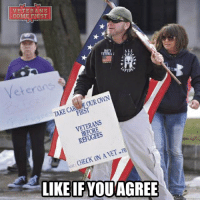 """Doctor, Homeless, and Memes: VETERANS  COME FIRST  ALL  owN  FOUR CAR  TAKE FIRST  VETERANS  REFUGEES  CHECK ON AVET  LIKE IF YOU AGREE A group of about 20 veterans and supporters gathered Saturday at the Westmoreland County Courthouse in downtown Greensburg to counter recent protests against President Trump's immigration orders. Organizer Lance Baird, 48, a Navy veteran who worked as an intelligence specialist in Afghanistan in the mid-1990s, said the nation should give priority to the needs of its veterans rather than taking in refugees. """"Don't you think we should take care of our own first before you worry about anyone else?"""" he said. Baird of Greensburg expressed concern about homeless veterans and those with inadequate medical care. He said the Department of Veterans Affairs needs more money to better serve veterans, noting some experience long waits to see a doctor. """"Instead of spending billions on bringing over people that we know don't like our culture and our way of life, why don't we take care of our own first who put their lives on the line to make our country as safe as it is?"""" he asked. I'm 100% supportive of Mr. Baird and I'm very glad to know that at least a small group of patriots rose in support of Trump. This is disgraceful that left-wing radicals organize riots and demonstrations across the country, and those who voted for Trump are silent. Veterans' problems are much more important to America than the problems of refugees, and Trump's policy to expel criminals from the country is the right policy. An unprecedented media attack is organized against Trump because he is trying to protect Americans. I call on all the American patriots to stand strong for Trump and support him in all his undertakings. veteranscomefirst veterans_us Veterans Usveterans veteransUSA SupportVeterans Politics USA America Patriots Gratitude HonorVets thankvets supportourtroops semperfi USMC USCG USAF Navy Army military godblessourmilitary soldier holdthegovernmentaccountable"""
