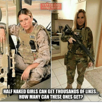 Friends, Girls, and Memes: VETERANS  COME FIRST  HALFNAKED GIRLS CAN GETTHOUSANDS OF LIKES  HOW MANY CAN THESE ONES GET? Caption This! - - ❎ DOUBLE TAP pic 🚹 TAG your friends 🆘 DM your Pics-Vids 📡 Check My IG Stories 💥Check the link in Bio 👉@veterancollection 🔥Follow us @veterancollection - - Shared by @veteranownedworld - 🇺🇸🇺🇸🇺🇸🇺🇸🇺🇸🇺🇸🇺🇸🇺🇸 usarmy armylife usnavyseal navylife militarylife militarylove usmilitaryacademy navylife usmilitary usarmyveteran veterans supportthetroops supportourveterans usnavy USMC USCG usmarines armedforces semperfi usairforcepride usairforce hooah Oorah armystrong infantry activeduty supportourtroops usarmedforces