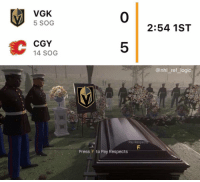 Logic, Memes, and National Hockey League (NHL): VGK  5 SOG  0  2:54 1ST  CGY  14 SOG  5  @nhl_ref_logic  Pay Resped  Press F to Pay Respects I'm in tears, laughing (Currently 7-0)