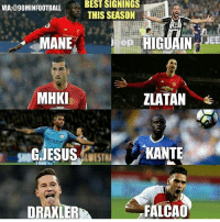 Memes, 🤖, and Signs: VIA:@90 MINFOOTBALL  Stand  MHKI  ETH LAD  DRAXL  BEST SIGNINGS  THIS SEASON  Jeep  epi HIGUAIN  ZLATAN  KANTE  FALCAO  JEE Do you agree?
