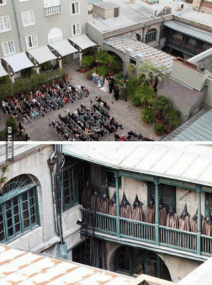 9gag, Saw, and Wedding: VIA 9GAG.COM A wedding photographer took this from a rooftop, later something seemed odd, this is what he saw when he zoomed in..