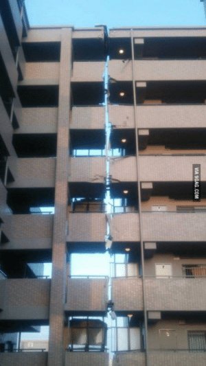 An apartment in Kumamoto, Japan after the earthquake: VIA 9GAG.COM An apartment in Kumamoto, Japan after the earthquake