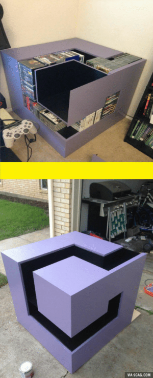 9gag, Best Friend, and Best: VIA 9GAG.COM Built a gamecube shelf with my best friend. What do you guys say?
