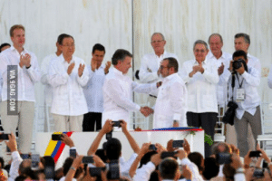9gag, Colombia, and Happy: VIA 9GAG.COM Historic Day for Colombia! The Government and the FARC Guerrilla signed a Peace Treaty, ending a 52 years long war. We Colombians are happy!